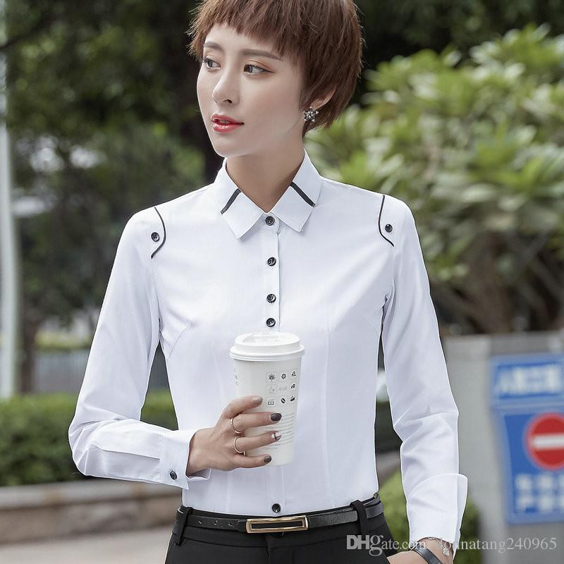 c3fabd17cea9d9 2019 Solid White Blouses Shirts Blusas De Renda Femininas Female Casual  Blouse Summer Cheap Clothes China Office Ladies Women Tops From  Donnatang240965, ...