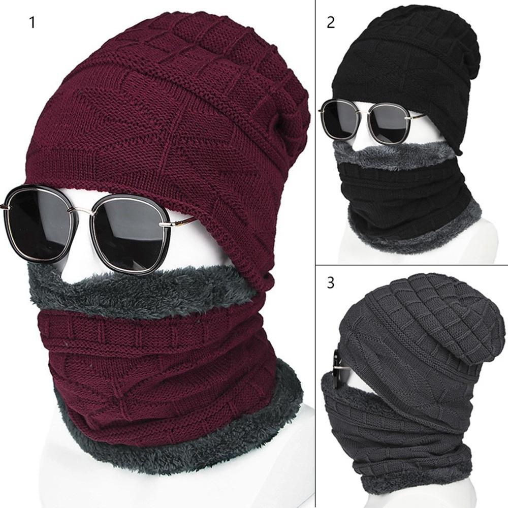 2019 2018 Winter Hats For Men Skullies Beanie Hat Winter Cap Men Women Wool  Scarf Caps Set Balaclava Mask Gorras Bonnet Knitted Hat From Enjoyweekend 1f4b243f3f07