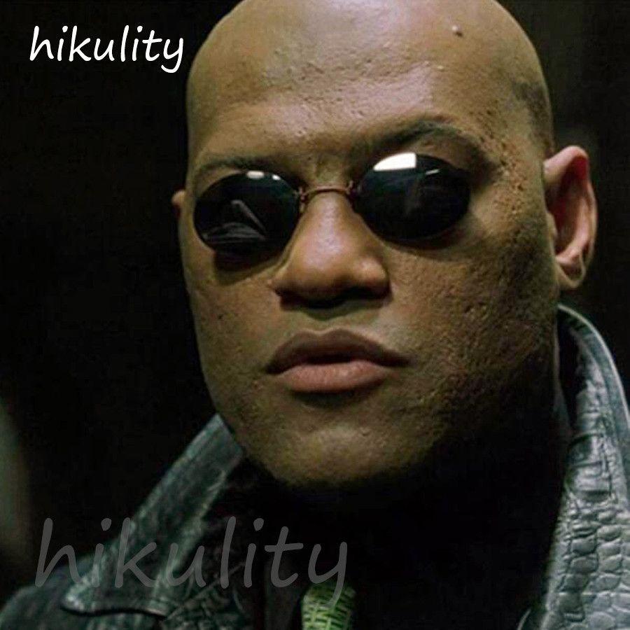 1d47e9f69f5d0 The Matrix Morpheus Stylish Mini Round Sunglasses Men Vintage Guilder  Silver Unique Sun Glasses Clipped On The Bridge Of Nose Polarised Sunglasses  Baby ...