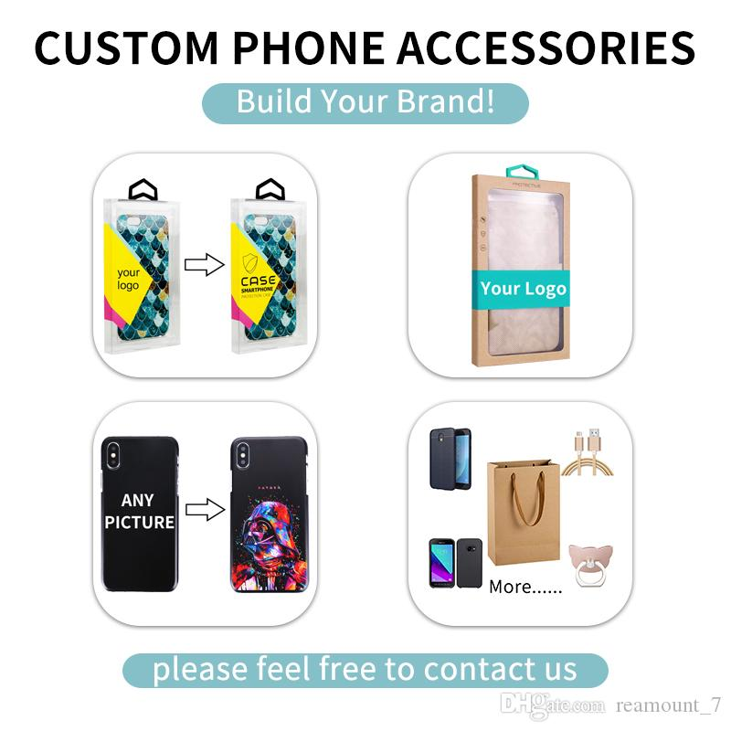 Retail PVC Phone Case Packaging for Samsung S8 Plus Plastic Transparent Clear Box for iPhone X with Sticker