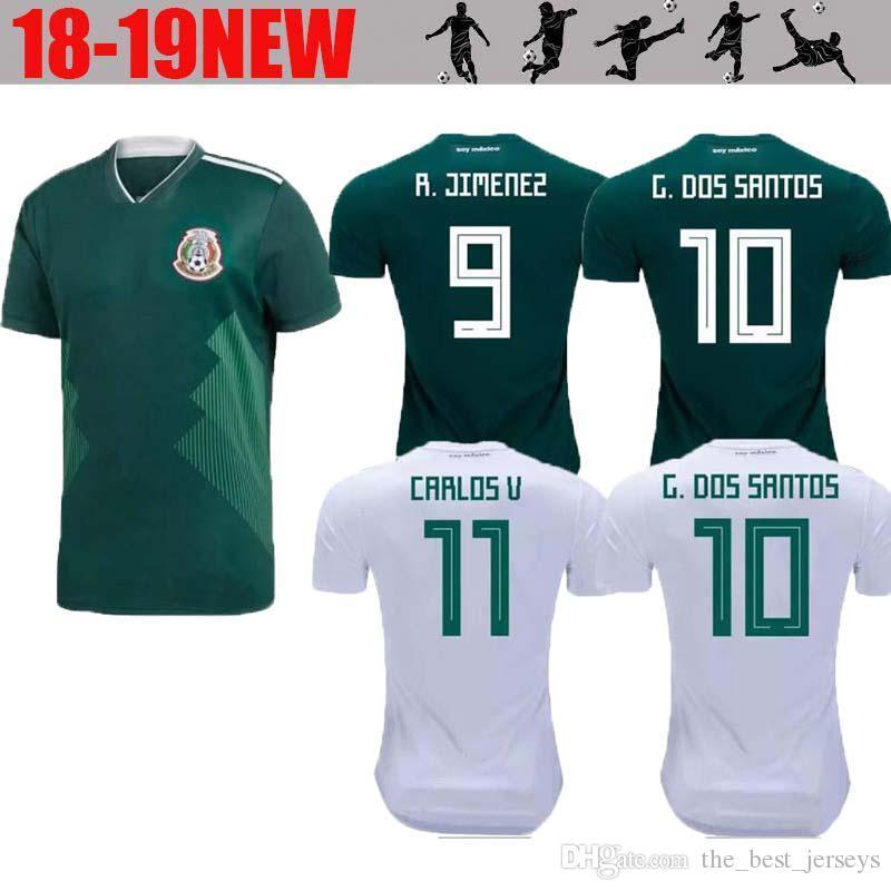 Copa Mundial De México México 2018 Jersey Lejos Local 17 18 CHICHARITO  Verde Camisetas De Futbol Hernandez G DOS SANTOS Camisetas De Fútbol Por ... b6119f65ec6a8