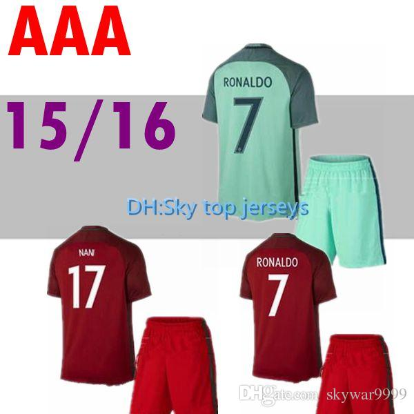 3d7c0f2287cb6 2019 Jersey 2016 2017 Camisetas De Futbol FIGO NANI Football Shirt 16 17  Maillot De Foot Cristiano Soccer Jersey From Skywar9999