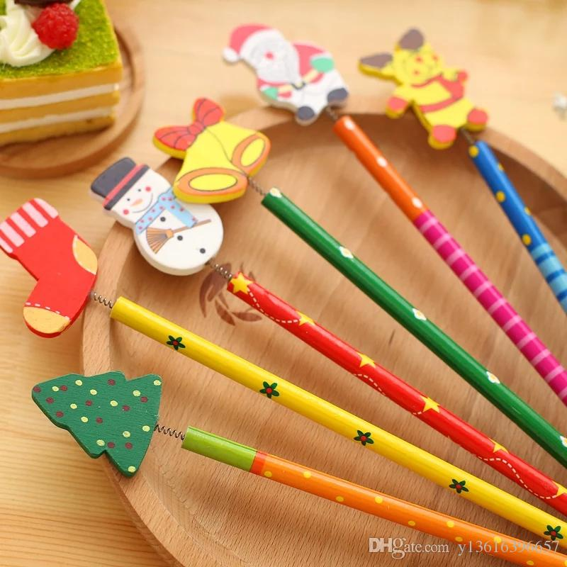 pencil children elementary school gift creative cartoon with eraser,bag packaging,doe not support drop shipping