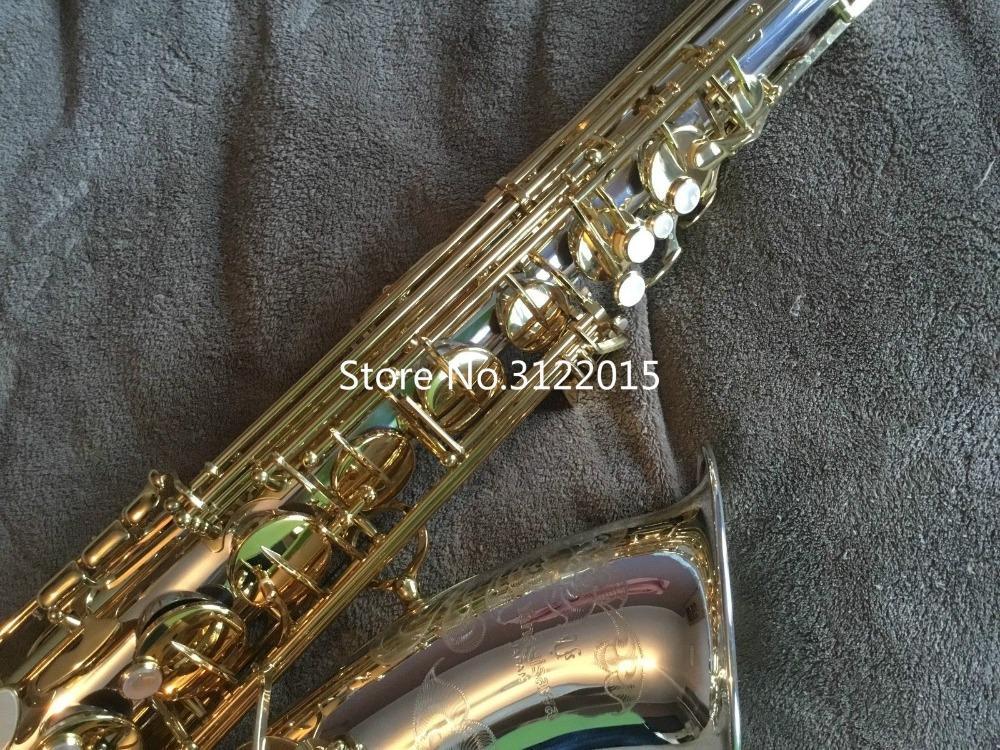 Nueva Llegada YANAGISAWA T-9937 Bb Saxofón Tenor Plateado Tubo Llave de Oro Saxo Instrumentos Musicales Con Estuche Boquilla