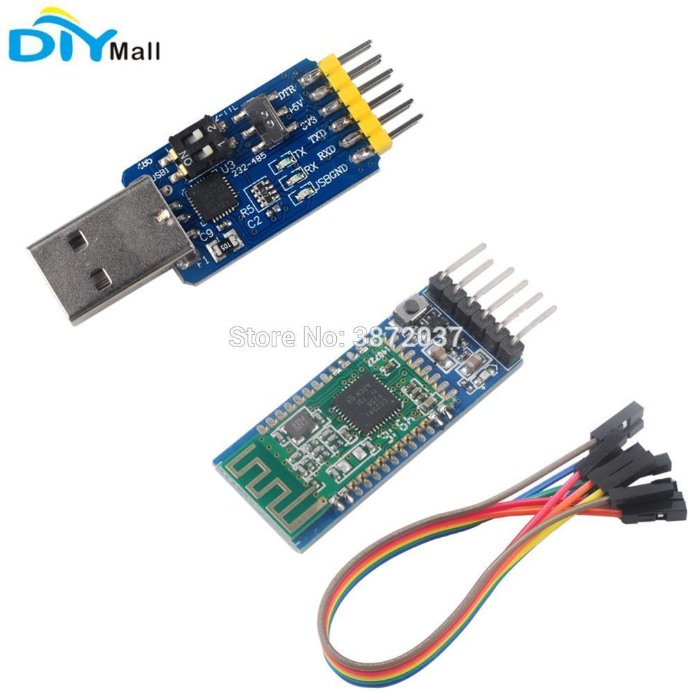 5pcs/lot SH-HC-08 Bluetooth 4.0 BLE Slave Module USB to TTL CP2102 Serial Module RS232 to RS485