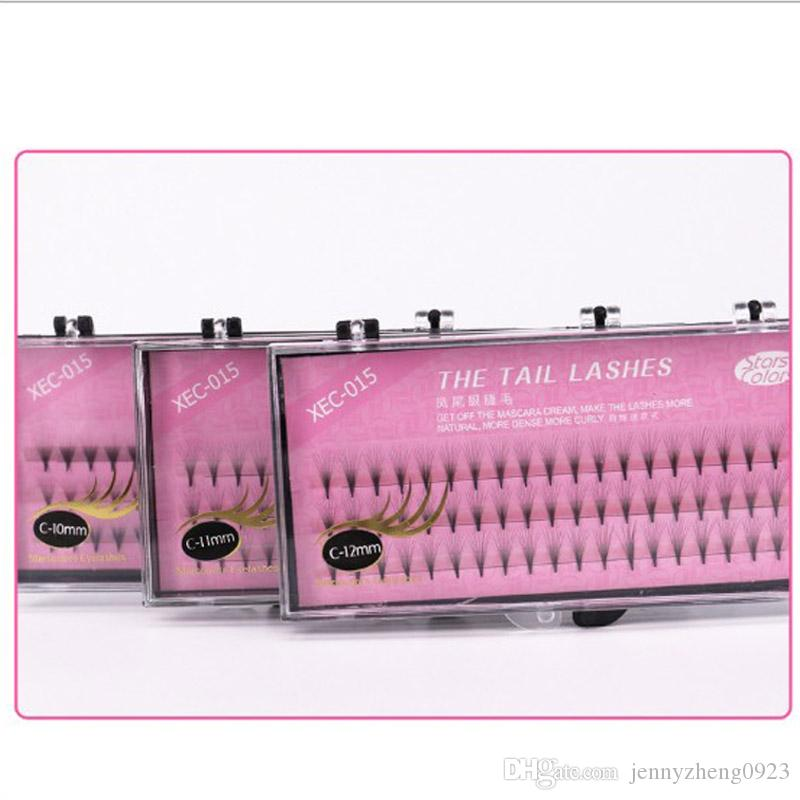 Individual Lashes C Curl 0.07mm 8-12mm 3D Lash Extensions Flares Eyelashes Knot-free in stock