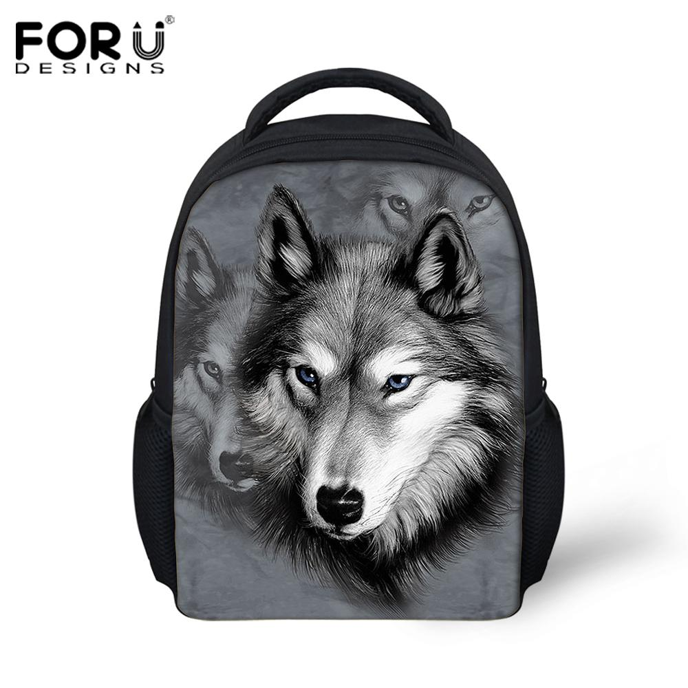 b11c3d661dc7 cartoon animal kids backpacks kindergarten cool 3d wolf small shoulder bags  baby children bag pack toddler mochila infantil