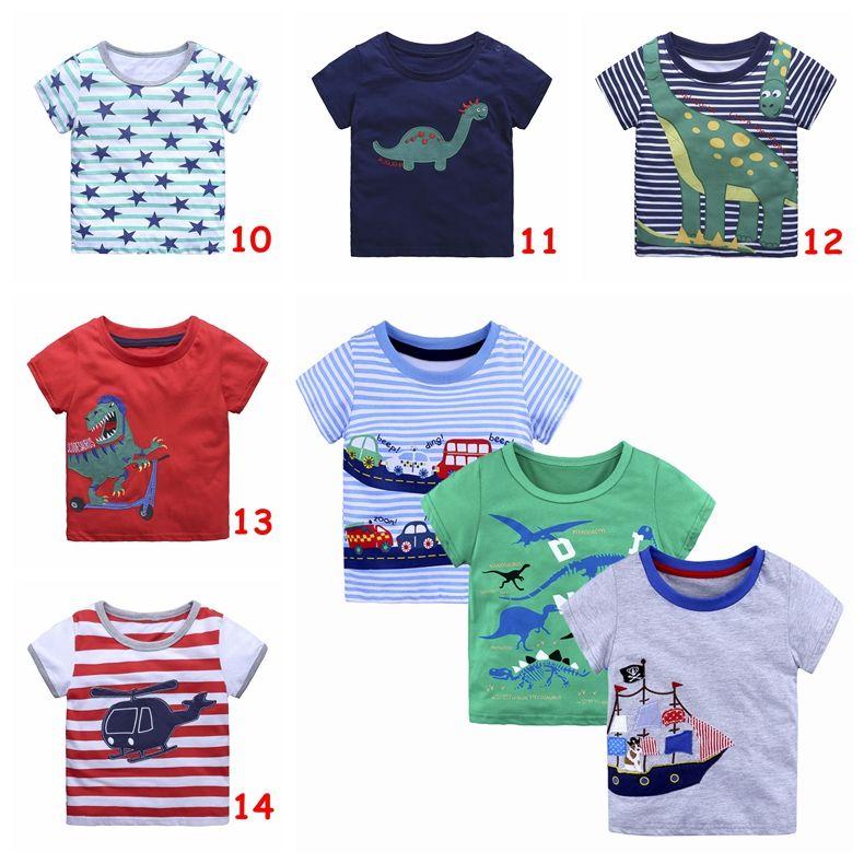 الفتيان لطيف قمم الأطفال الصيف قصيرة الأكمام تي شيرت أطفال الأولاد القطن المحملات شخصية طباعة الملابس