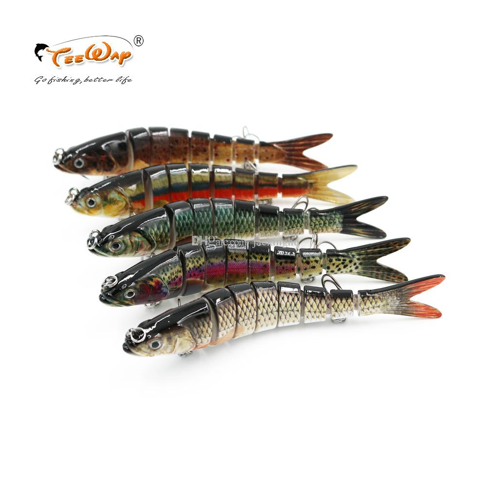 Fishing Wobblers Lifelike Fishing Lure 8 Segment Swimbait Crankbait Hard Bait Slow 30g 14cm With 6# Fishing Hooks
