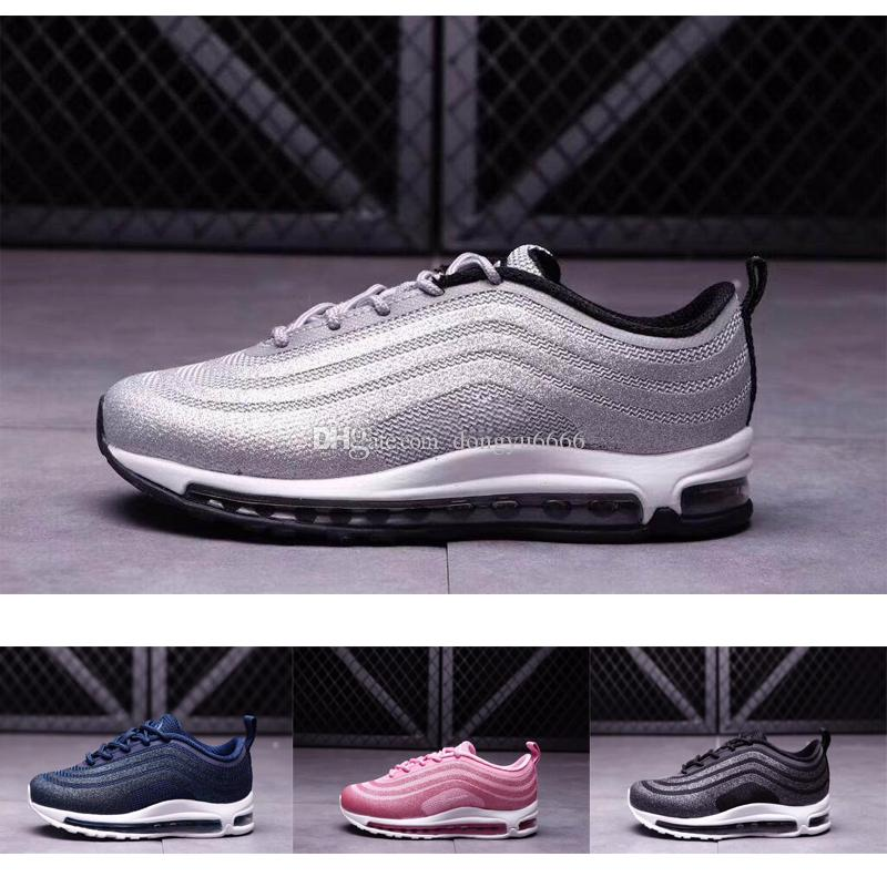 8dc6e7d78 Compre Nike Air Max 97 Envío Gratis 2018 Zapatos Para Niños 97 Nuevos Niños  Baratos Athletic Maxes Boys And Girls 97 Sneakers Kids Sports Zapatillas ...