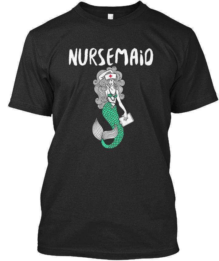ef190c76f 2/15 Nurse Nursing Mermaid Mermaids Nursemaid Premium Tee T Shirt Funny T  Shirts For Guys Fashion T Shirts From Lijian54, $12.08| DHgate.Com