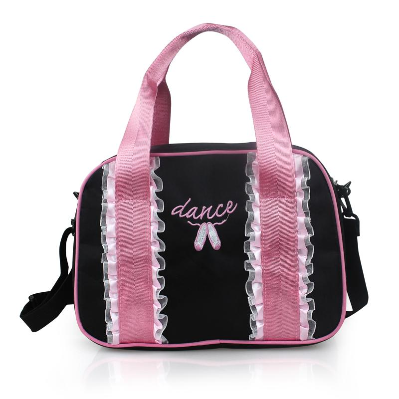e84caf7e380 Pretty Pink+Black Pink Dance Embroidered Ballet Shoes Ballet Bags Girls  Adult Kids Lace Dance Bags Ballet Bag Girls Ballet Bag Ballet Shoe Bag  Online with ...