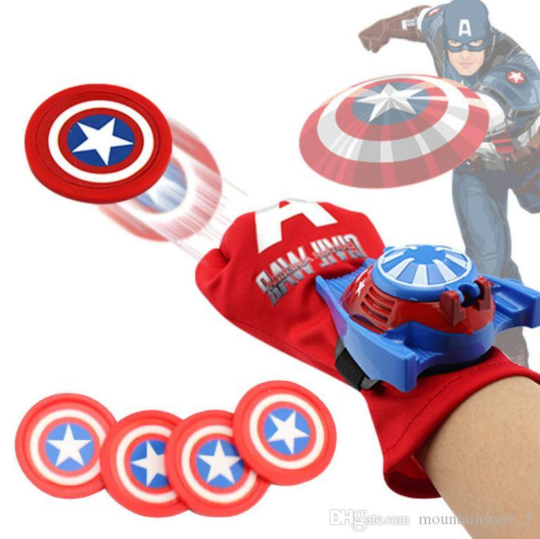 Hot Arrival Kids Spider Iron Bat Launcher Gloves Children Action Figure Toys Boys With Retail Box