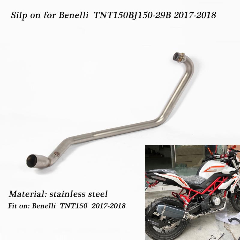 Silp on For Benelli TNT150 BJ150-29B 2017-2018 Motorcycle Stainless Steel  Full Exhaust System Connecting Tail exhaust pipe