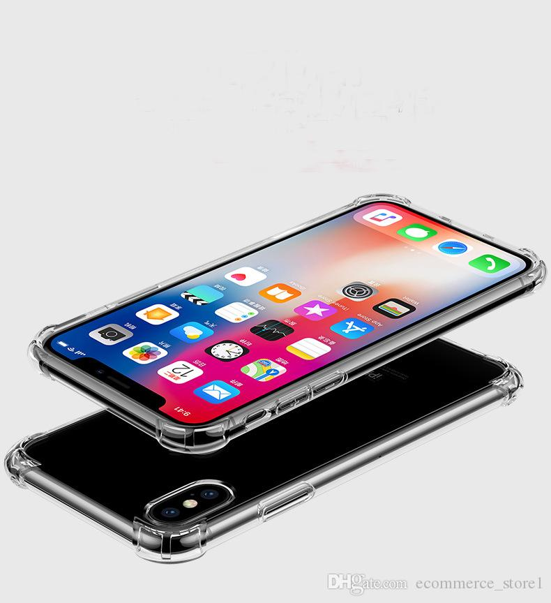 Für iphone x drop schutzhülle transparent telefon cases weichen tpu klar zurück abdeckung coque für iphone 8 7 6 6 s plus