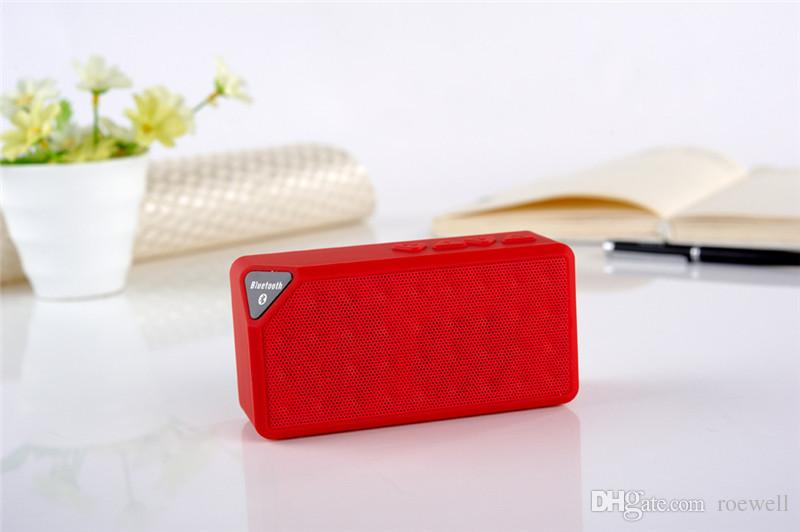 Mini X3 Bluetooth Speaker TF Card FM Radio Subwoofer Portable Outdoor Music Player MP3 With MIC Handsfree iPhone 6 Plus S5 US06