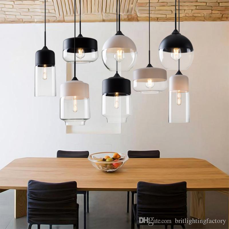 Glass Pendant Lights Nordic Modern Pendant Lamps Minimalist Bedroom Dining Room Led Lamp Personality Living Room Bar Hanging Lights Fixtures