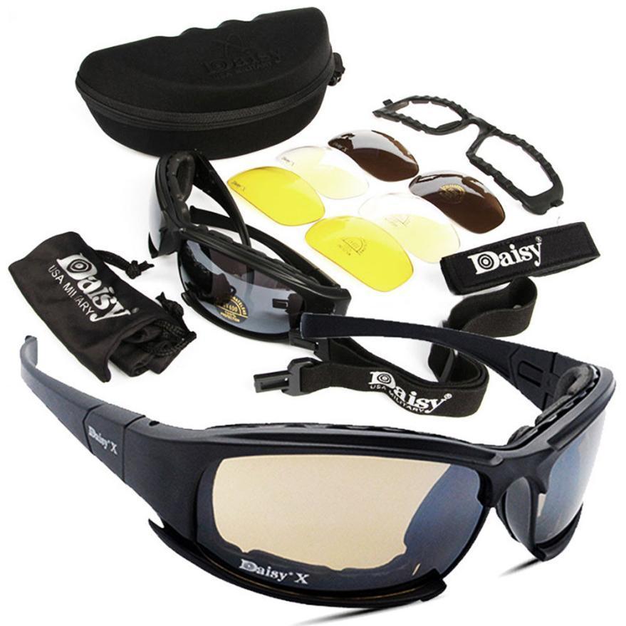 7887eafbe51c8 Compre Esporte Ciclismo Óculos De Sol 4 Lente Kit Exército Óculos De  Proteção Óculos De Sol Dos Homens Esportes Ao Ar Livre Jogo De Guerra  Tático Óculos De ...
