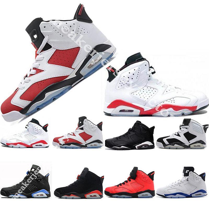 New 6 Basketball Shoes Mens Women 6s VI UNC Infrared Gym Carmine Cat ... 93ebf4db29