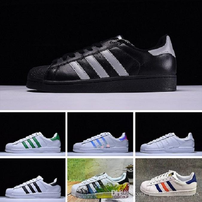 save off e1606 920ad Acheter Adidas Superstar 80s Designer Shoes Sup Original White Hologram  Iridescent Junior Gold Sup Snea Originaux Super Star Femmes Hommes Sport Ru  ...