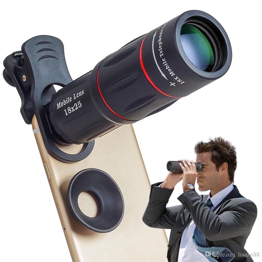 18X Telescope Zoom Mobile Phone Lens for iPhone Samsung Smartphones universal clip Telefon Camera Lens with tripod