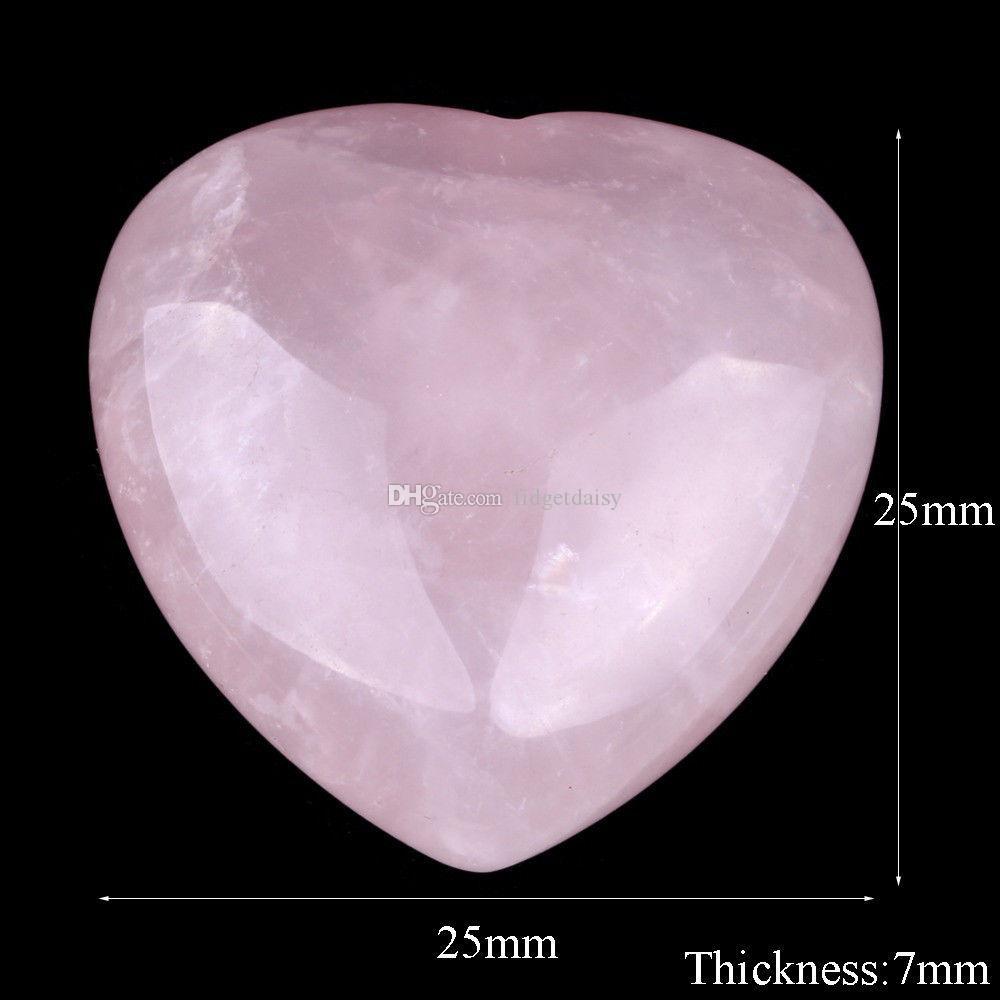 Natürliche Rose Quartz Heart Shaped Rosa Kristall schnitzte Palm Love Healing Edelstein-Liebhaber Gife Steinkristallherz Gems