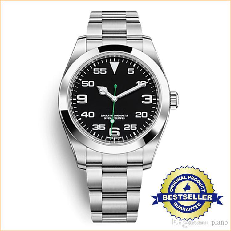 46de997f950 Compre Relógios De Luxo AAA Top Quality Black Dial Sapphire Strap Cinta De  Aço Inoxidável Automático Dos Homens Mens Watch Relógios Homem Relógio De  Pulso ...