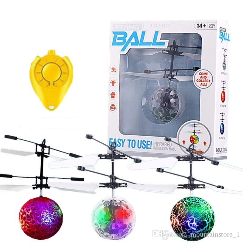 New Flying Ball Helicopter RC Flying Ball Drone Helicopter Ball Built-in Shinning LED Lighting Flying Toys for Kids