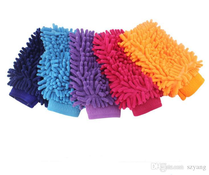 Car Hand Soft Cleaning Towel Microfiber Chenille Washing Gloves Coral Fleece Anthozoan Car Sponge Wash Cloth Car Care Cleaning SN1151