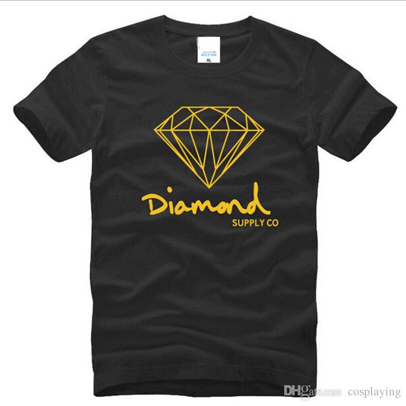 Diamond Supply Co printed T-shirt men's fashion brand design clothes MAle South Coast Harajuku Skate hip hop short sleeve sportswear