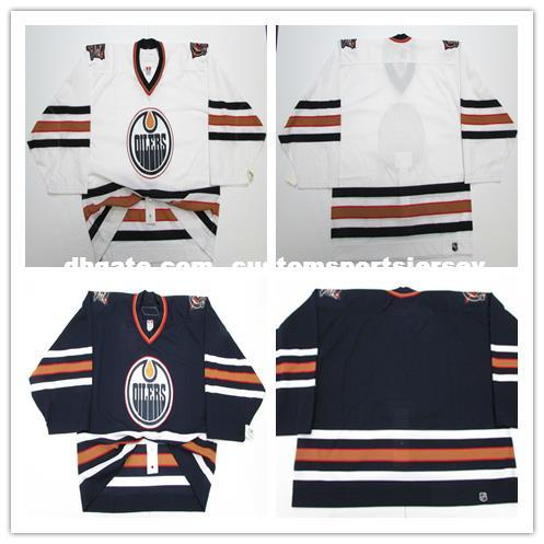 7b7c95b3d ... Stitched Personalized Hockey  good texture Cheap Wholesale Custom  EDMONTON OILERS WHITE AWAY 6100 TEAM ISSUED JERSEY GOALIE CUT Mens ...