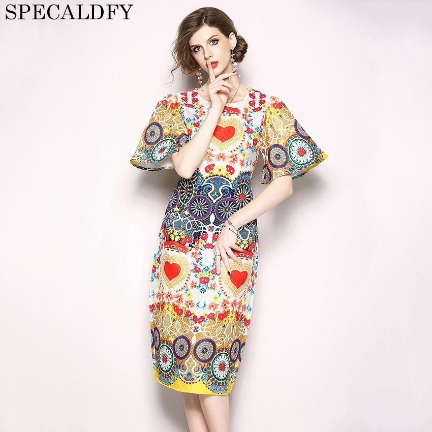 29313fe017 Designer Dresses Runway 2018 High Quality Women Fashion Printed Vintage  Luxury Dress Summer Party Dresses Vestidos Robe Femme Junior Cocktail Dress  Summer ...