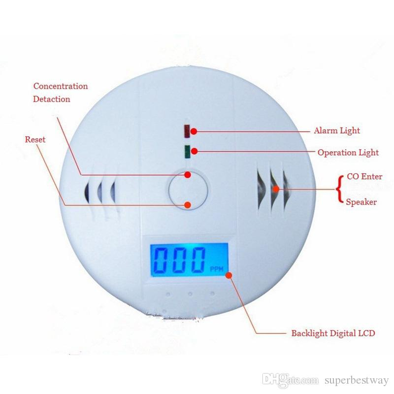 CO Carbon Monoxide Gas Sensor Monitor Alarm Poisining Detector Tester For Home Security Surveillance Hight Quality OTH781