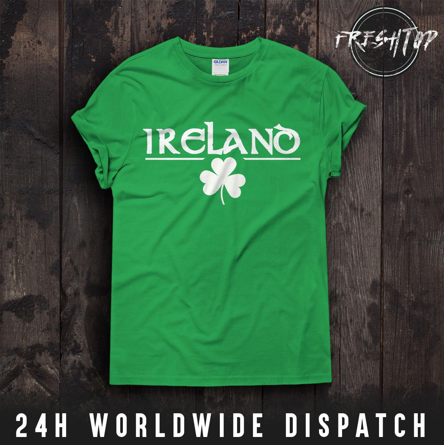 8de0046c2621 Ireland St Patricks Day T Shirt Logo Shamrock Green Day Gift Irish Tree  Nature Funny Unisex Casual Gift Coolest Tees Awesome Tee Shirt From ...