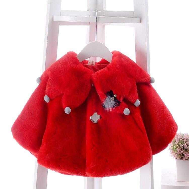 Baby Girl Clothes 2018 Winter New Baby Shawl Imitation Fur Coat Baby