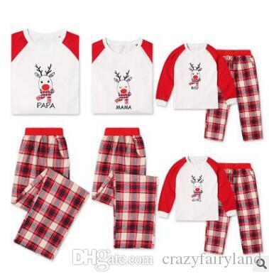 Acquista Natale Pigiama Set Famiglia Abiti Coordinati Elk Plaid Sleepwear  Madre Padre Figlio Abiti Da Abbinare Natale Homewear A  7.41 Dal Double hh  ... 83a7386023e