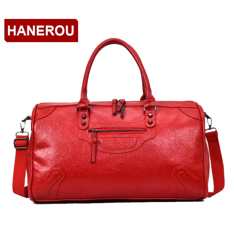 66ed30f52 Brand Design PU Leather Men Women Travel Shoulder Bags Carry On Luggage  Bags Luxury Duffel Bag Travel Tote Large Weekend Bag Gym Bags For Men Big  Bags From ...