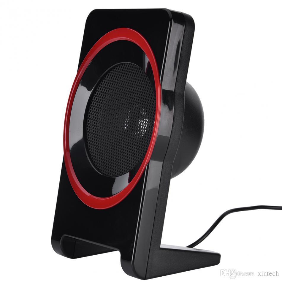 Combinaison en bois Mini USB 2.1 Enceintes d'ordinateur câblés Bass Music Haut-Parleur Subwoofer pour ordinateur portable PC Universal SL-8018
