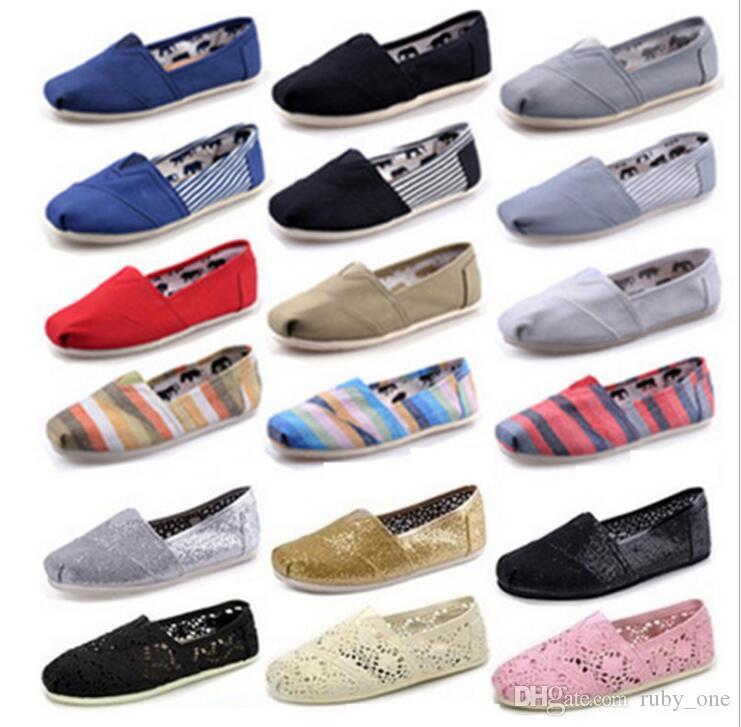 0a3191740 Compre Zapatos De Lona Ocasionales Ocasionales De Las Mujeres De Los Hombres  Zapatos De Lona Clásicos Slip On De Slip On Llano Zapatos Planos  Ocasionales ...