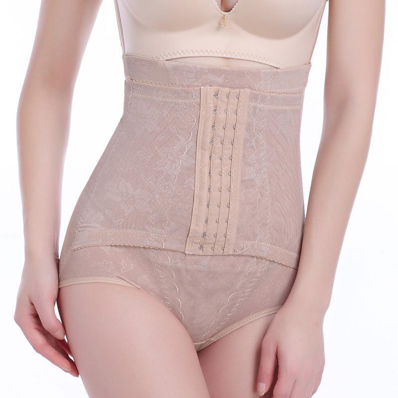 4df97dbc59200 2019 Women Plus Size Highwaist Underwear Slimming Corset Tummy Tights Body  Shaper Seamless Pants Postpartum Shaping Panty From Priscille