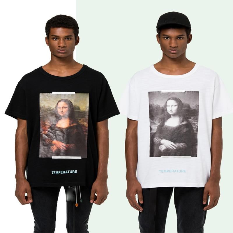 47afaac3abb Tide Brand Men Women T Shirts OFF Mona Lisa Smiles Printed Hip Hop T Shirts  Skateboard Tshirt Designer Tee Short Sleeve White Casual Tops T Shrt Fun T  Shirt ...