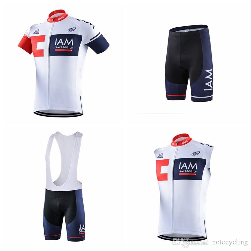 5593e4873 IAM Cycling Short Sleeves Jersey Bib Shorts Sleeveless Vest Sets Ropa  Ciclismo Quick Dry Pro Cycling Wear Bicycle Maillot Culotte A41409 Cycling  Gear Bike ...