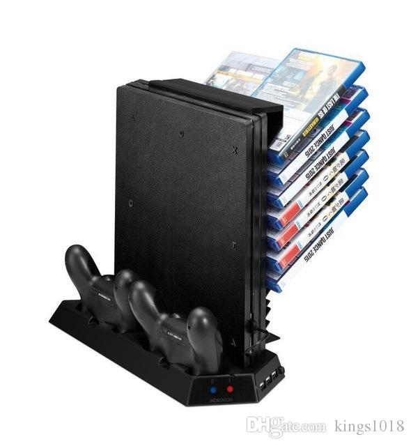 vertical stand for ps4 pro console cooling fan controller charging