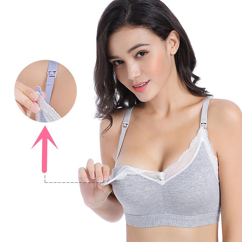 4748c3308a 2019 Breastfeeding Cotton Maternity Adjustable Cup Nursing Bra Mothers  Feeding Nursing Pregnancy Clothes Women Open Buckle Underwear From Laurul