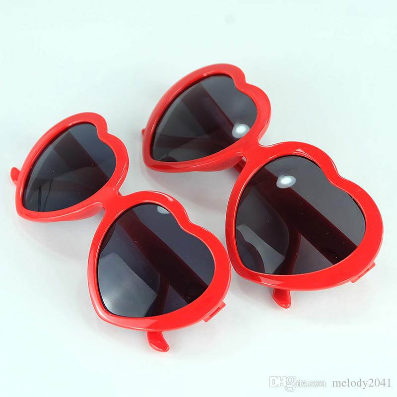 3a0c01056e0 Fashion Love Heart Sunglasses For Women And Kids Two Size Cheap ...