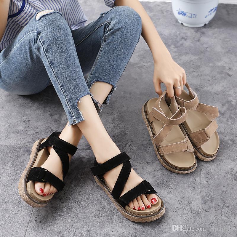 36eab3b1fa478a Summer 2018 Korean Edition New Sandals Sandals