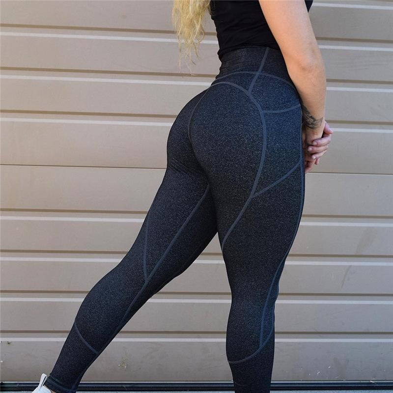 046847f37e7f7 2019 Women'S Solid Color High Waist Leggings Sexy Push Up Workout Leggings  Female Patchwork Sportswear Leggings Femme From Bestshirt008, $27.38 |  DHgate.Com