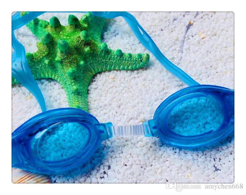Children Kids Boys Girls Antifog Waterproof High Definition Swimming Goggles Diving Glasses With Earplugs Swim Eyewear Silicone DHL/Fedex