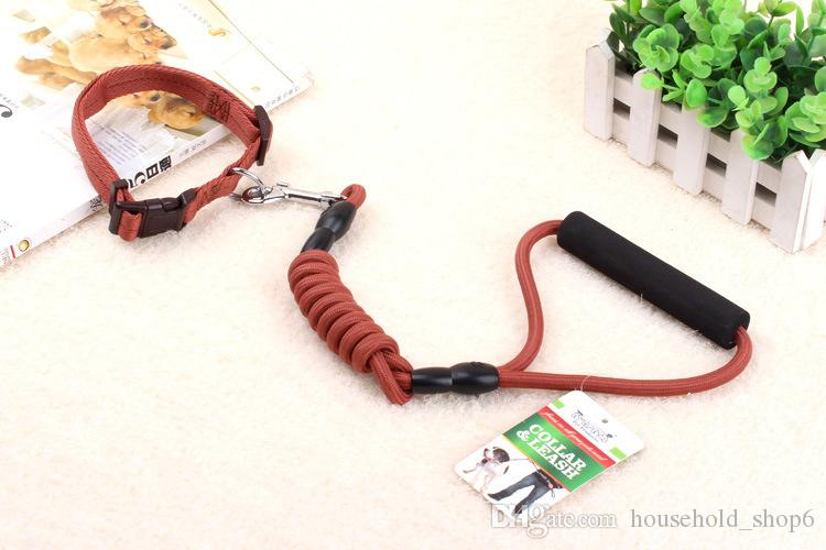 Pet Polyester fiber Leash Dog Walking Traction Rope Puppy Harness Collar For Dogs Size S-L