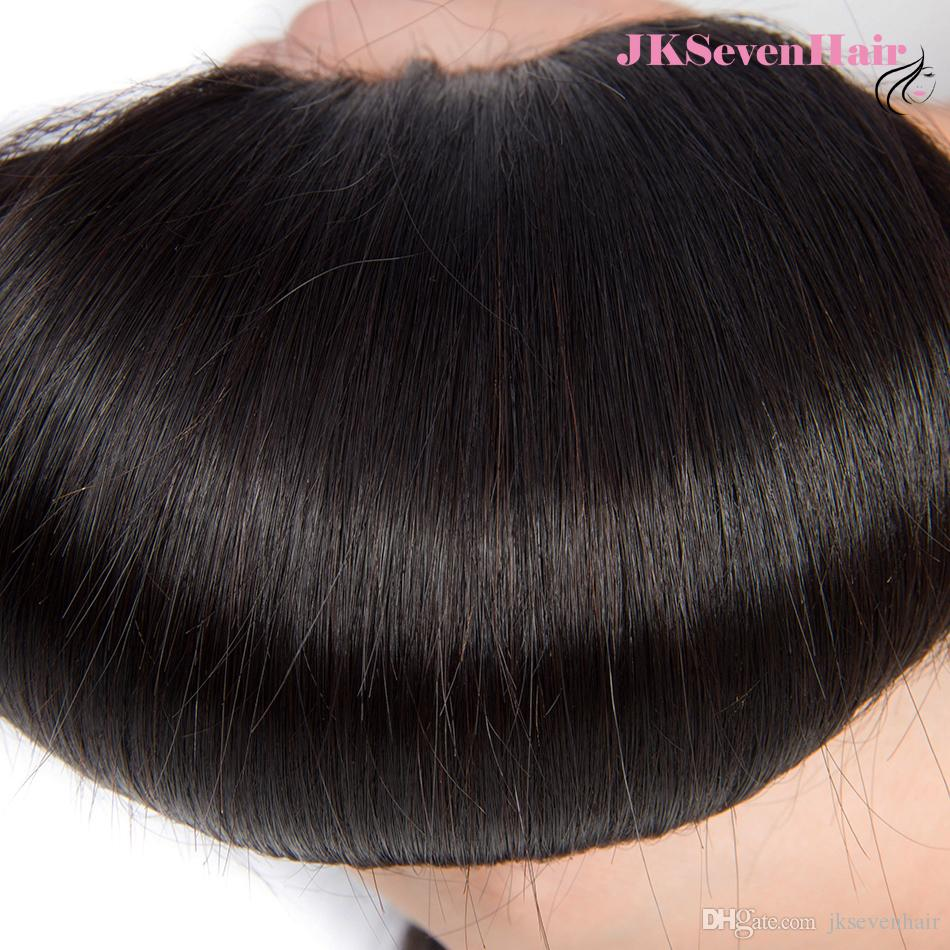8A Grade India Straight Human Hair Bundles With 13x4Inch Lace Frontal Malaysian Peruvian Vietnamese Hair Wefts With PrePlucked Frontal